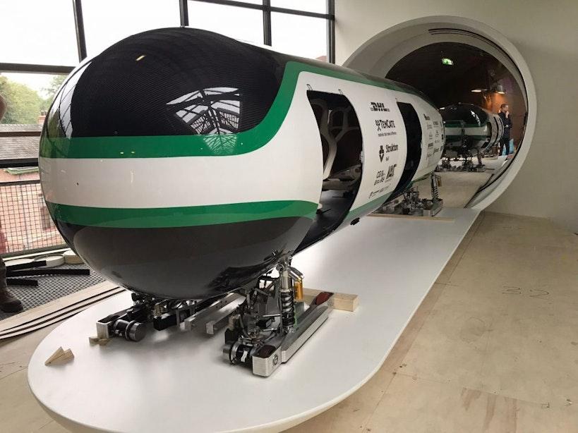 Hypermoderne vacuümtrein donderdag gearriveerd in Spoorwegmuseum in Utrecht